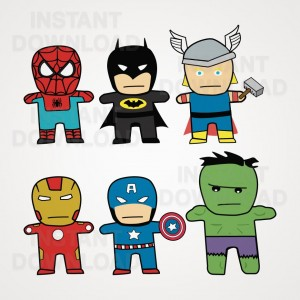 Superhero Vector Clipart