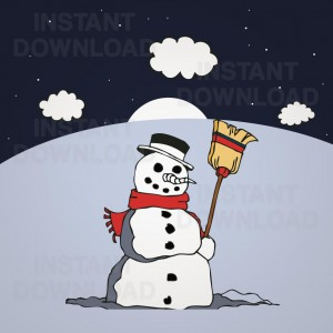 Snowman Cartoon Vector, Snowman Vector, Snowman Clipart, Snowman Cartoon Clipart, 09858
