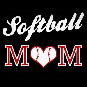 Softball Mom Vector, Softball Mom Clip Art, Softball Mom t-shirt design 09999
